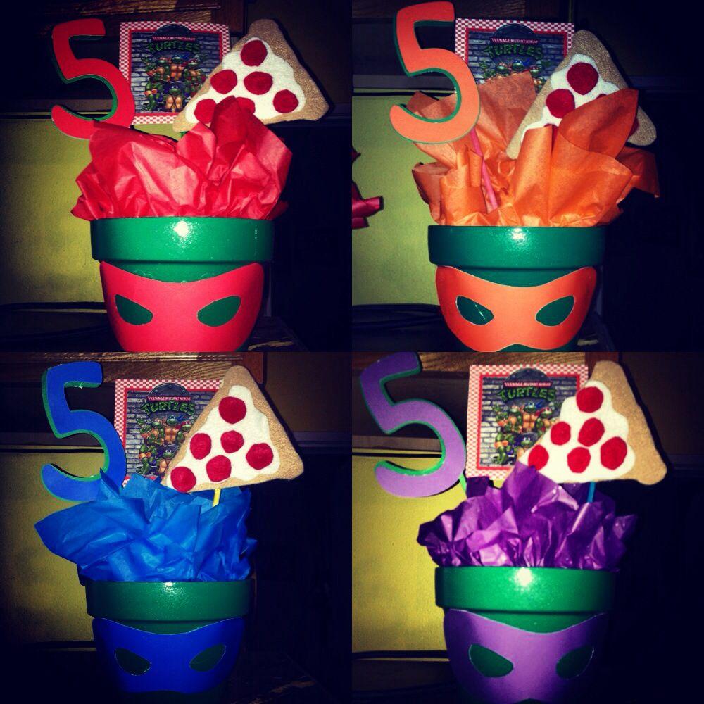 Diy ninja turtle centerpieces party ideas pinterest for Tmnt decorations