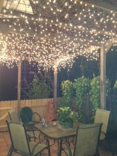 fairy lights for back porch our home pinterest