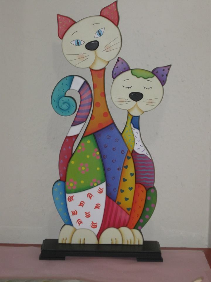 1000 images about cats on pinterest - Cojines pintados en tela ...