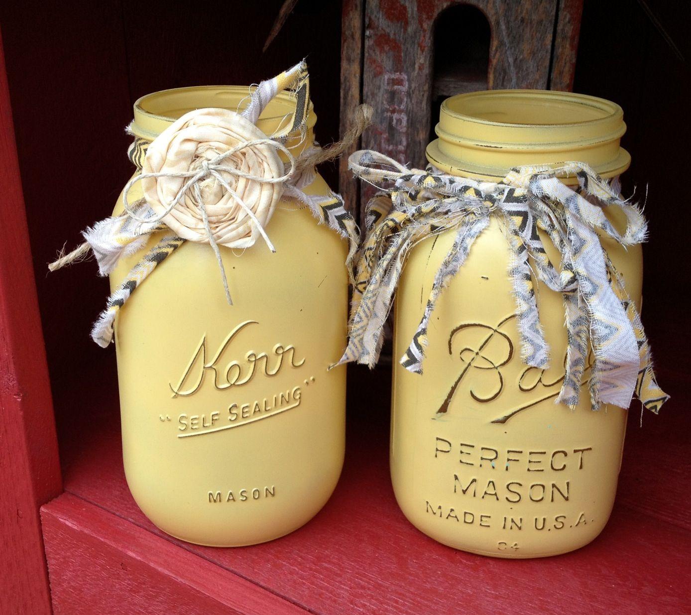 mason jars painted - photo #22