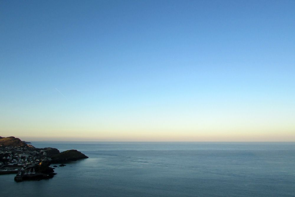 Ilfracombe, North Devon on a calm, frosty, bright December morning
