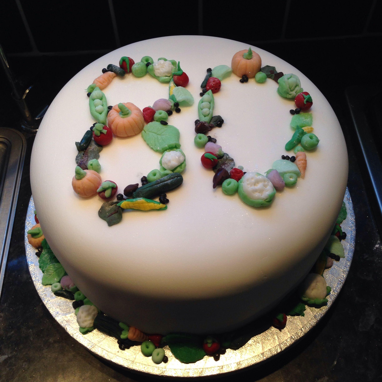 Vegetable Birthday Cake Images : 80th birthday cake! Vegetable toppers Cakearama ...