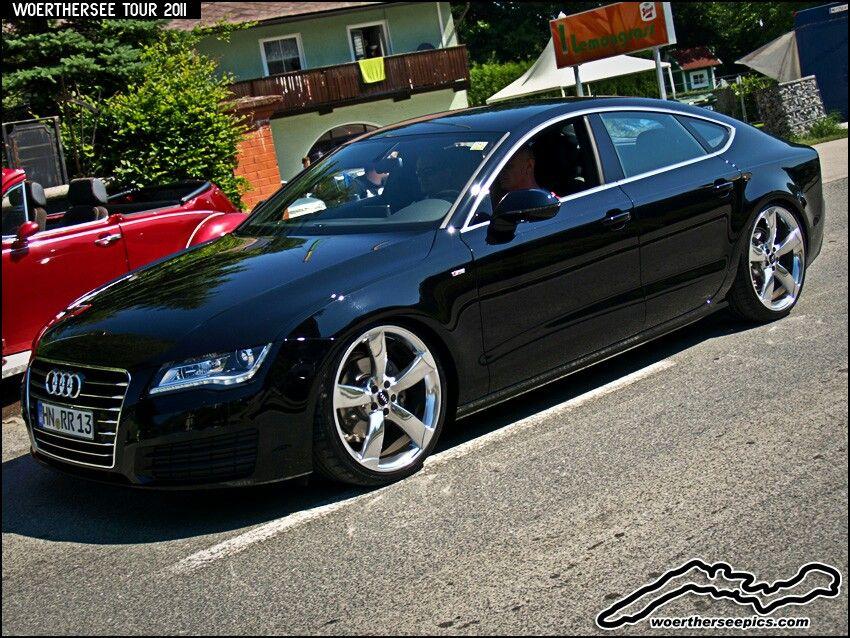 Black Audi Chrome Wheels Auto Dreams Pinterest