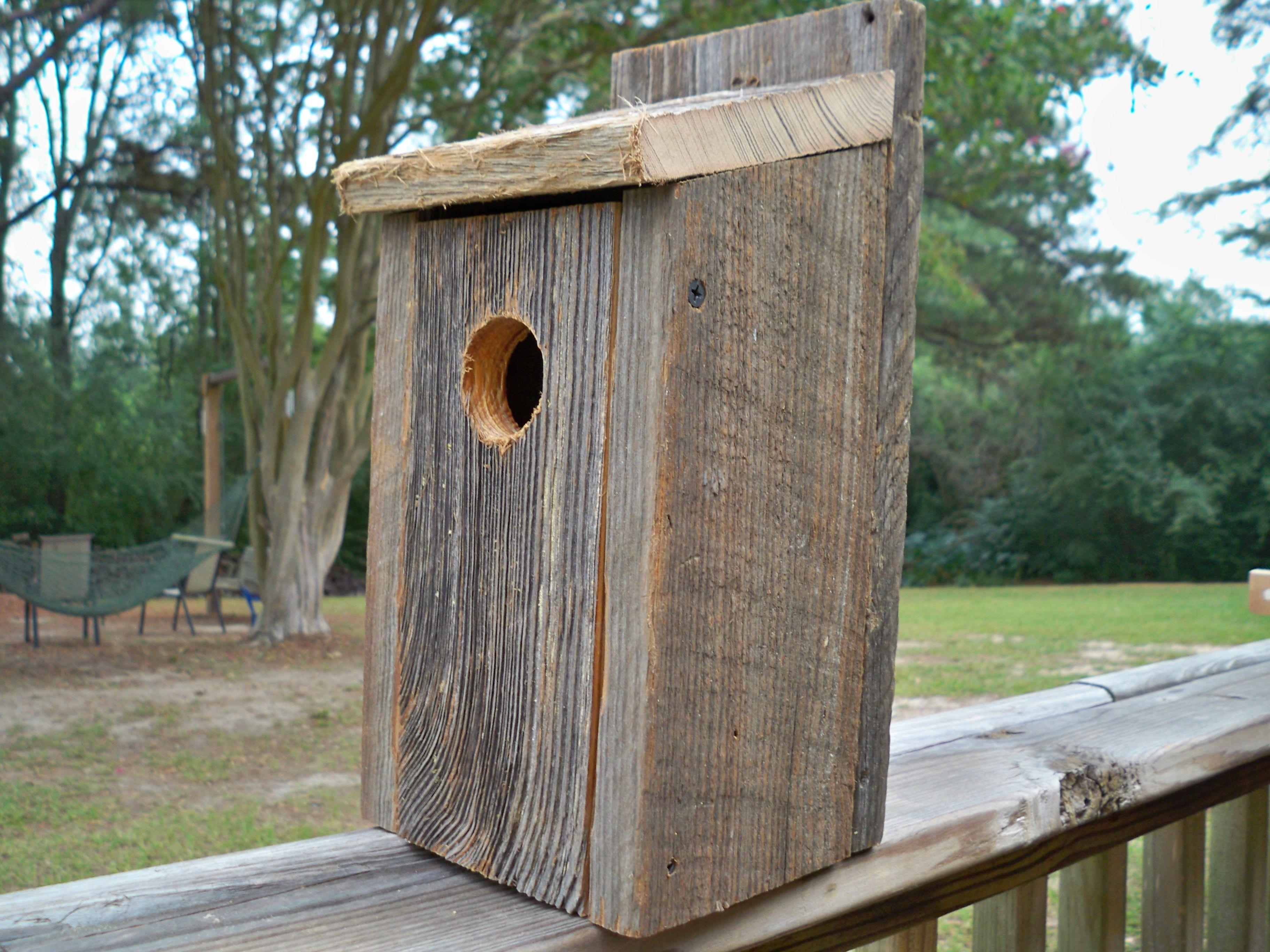 Barn wood blue bird house bird houses pinterest - Old barn wood bird houses ...