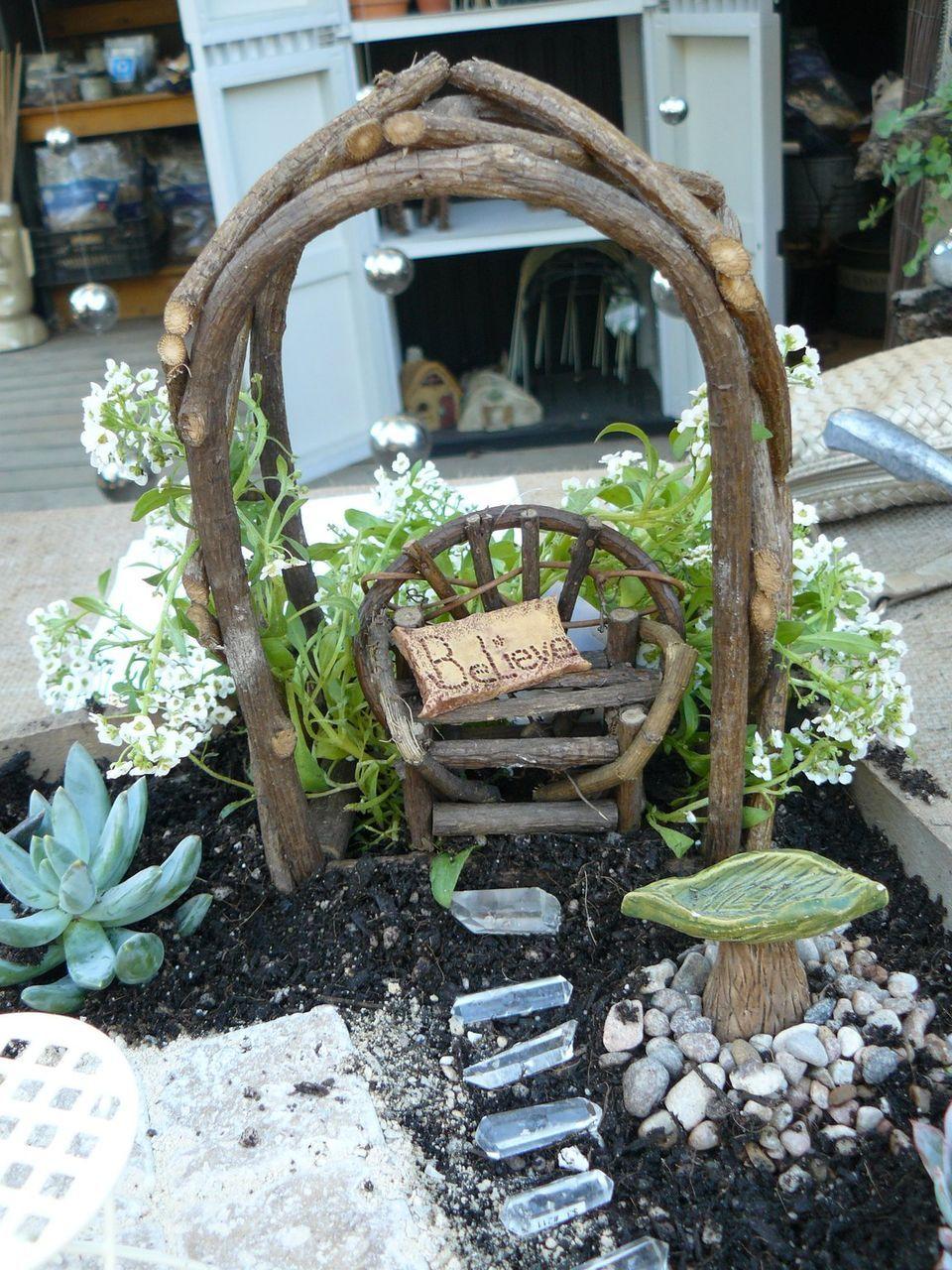 Little Fairy Garden Fairy Gardens Pinterest