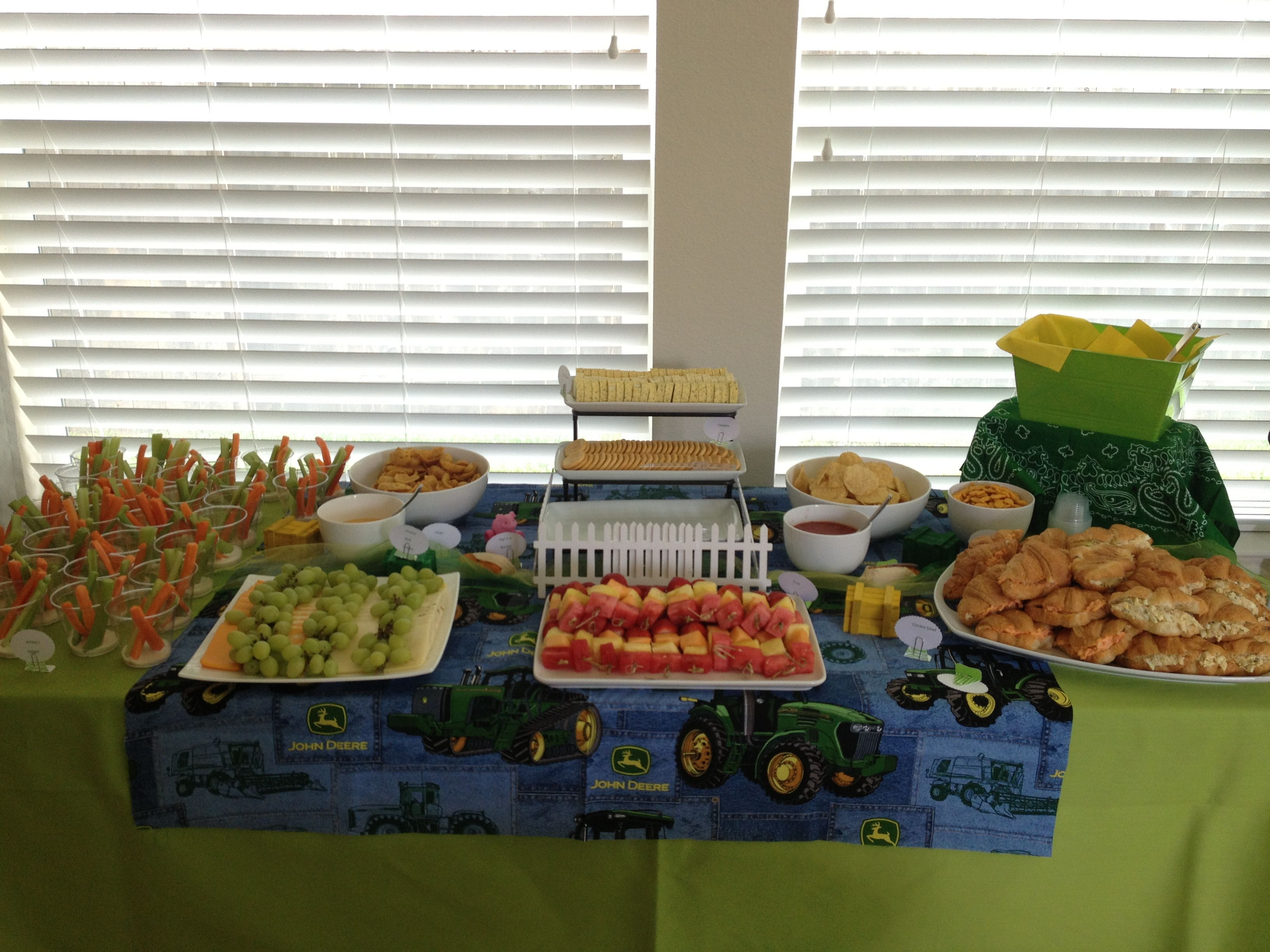 baby shower food table parties pinterest