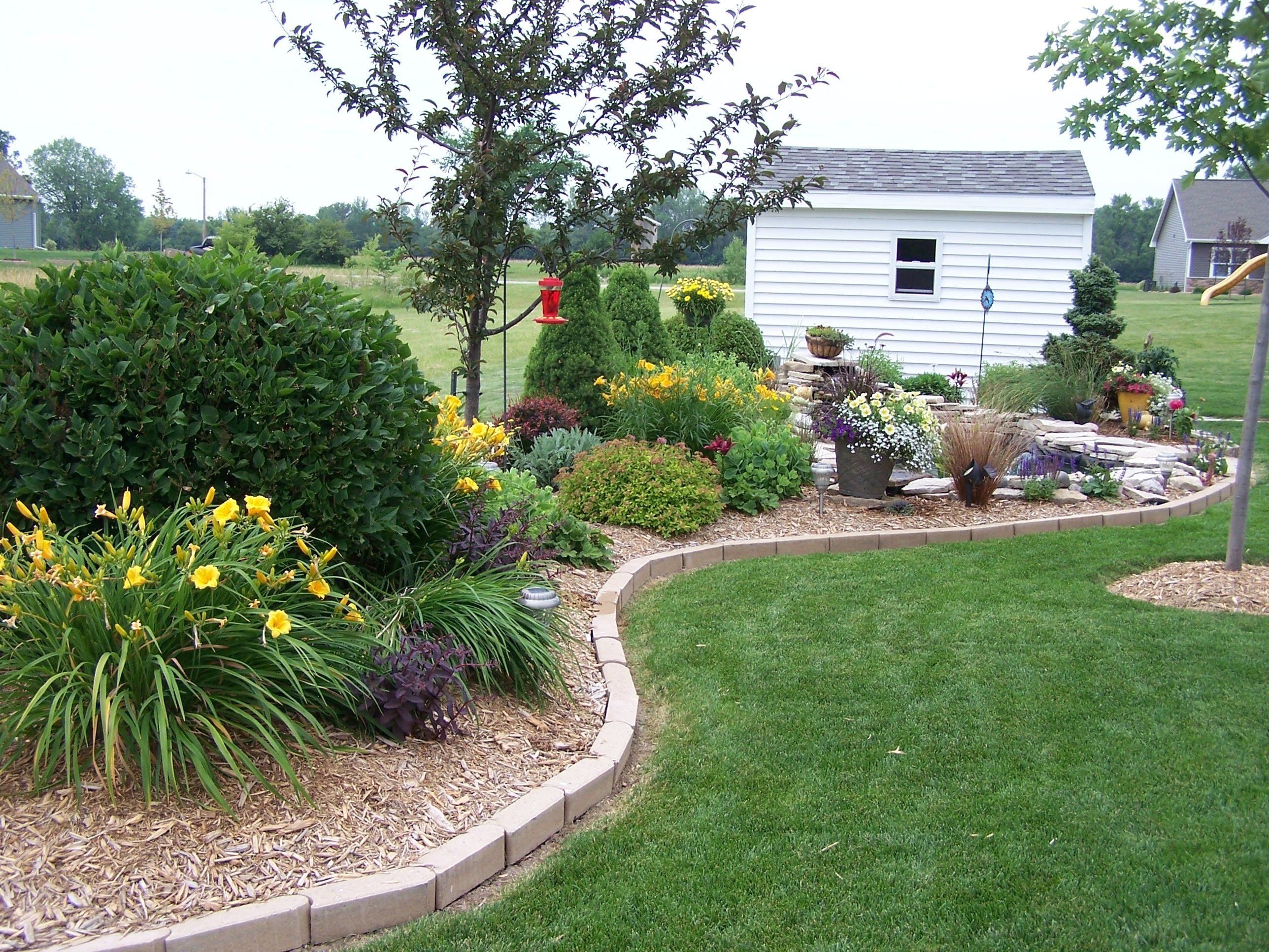 flower bed with shrubs love flowers pinterest