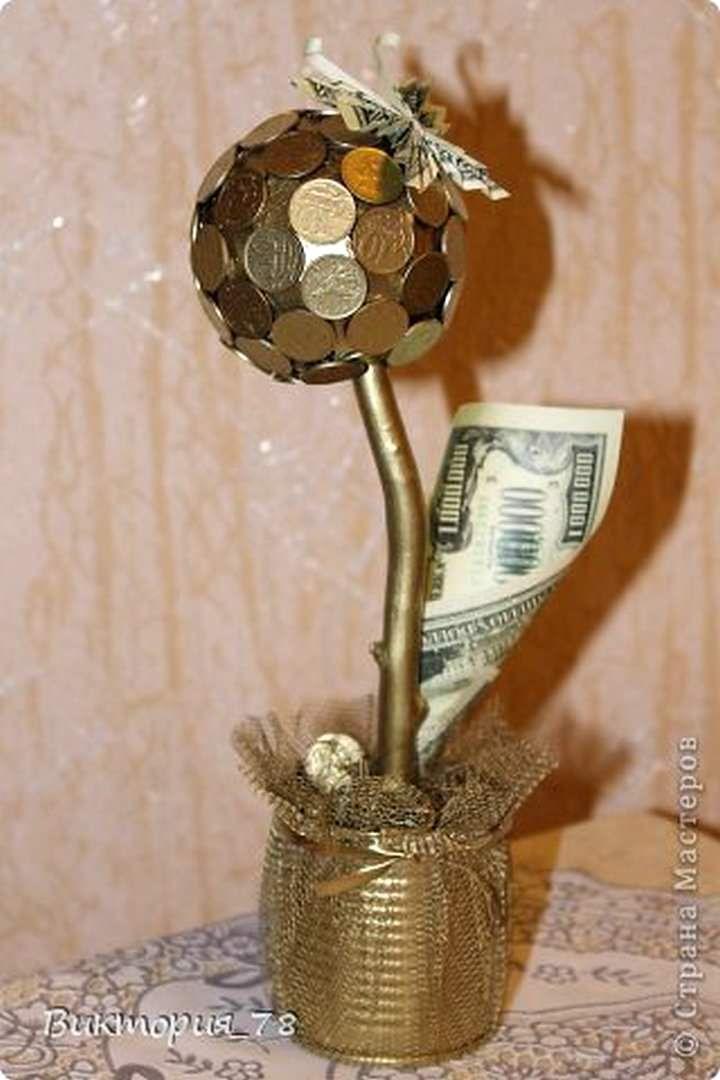 Денежное дерево из монет мастер класс пошагово