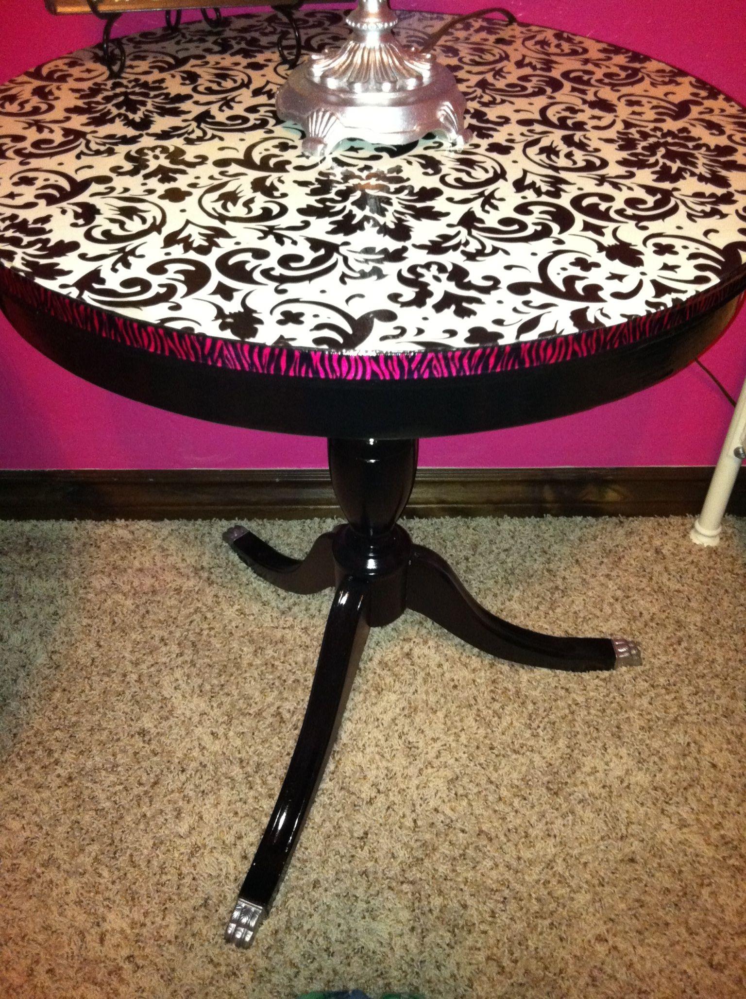Decoupage table  Decoupage  Pinterest