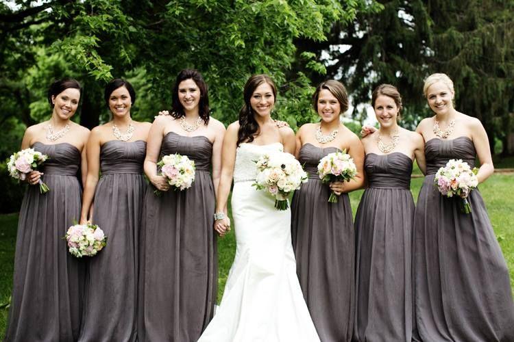 Long and Short Bridesmaid