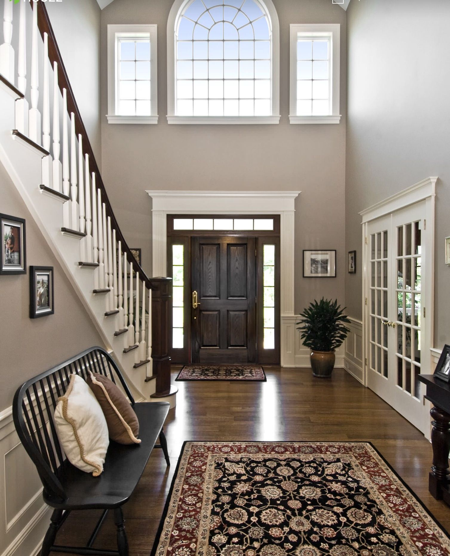 Foyer Color Ideas Alluring With Foyer Paint Color Ideas Photo