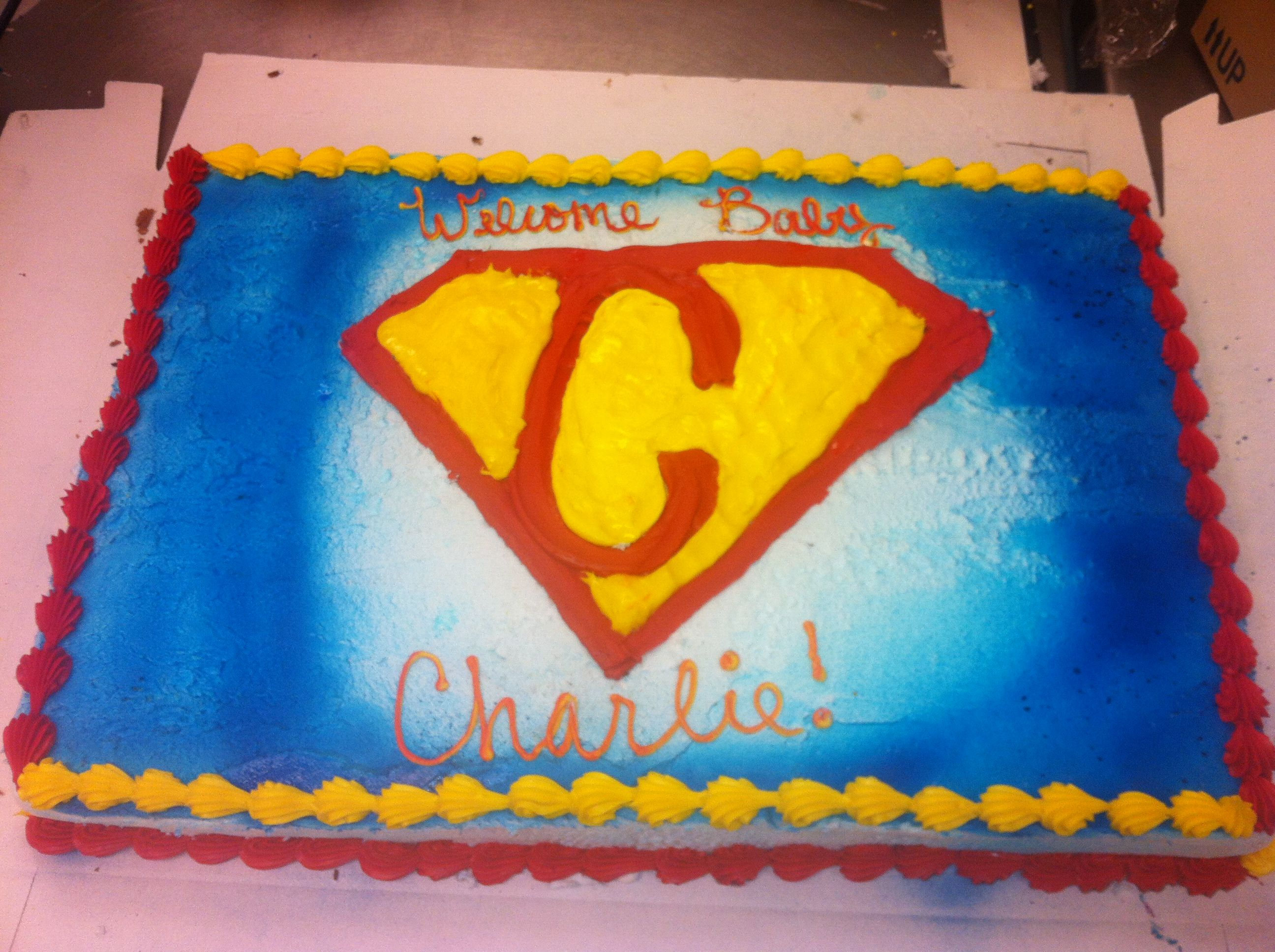 superman baby shower cake baby showers pinterest