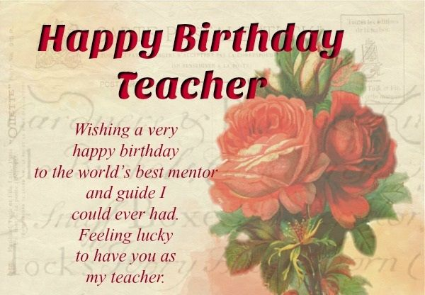 Birthday Cards For Teacher Happy Greeting