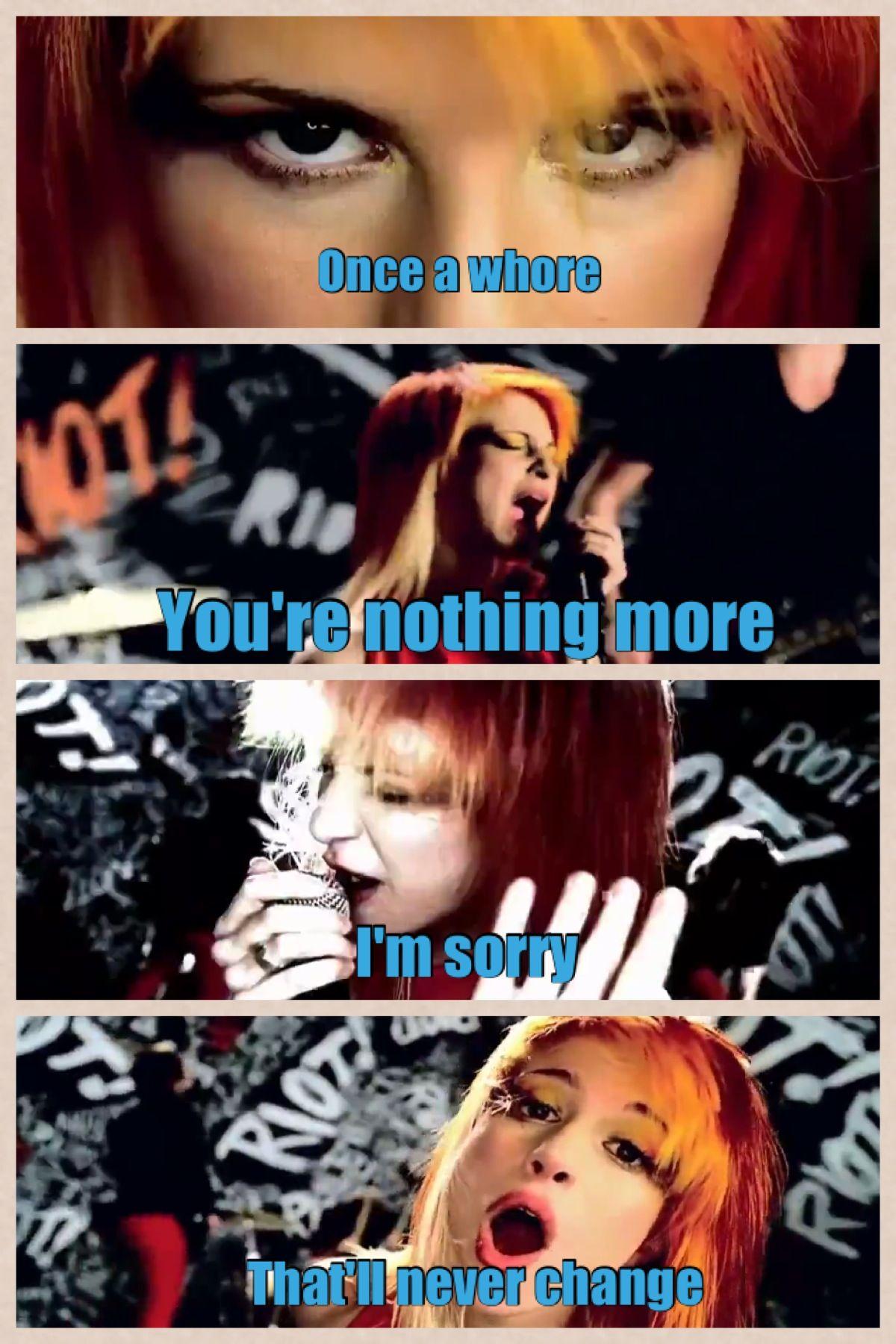Paramore | Misery Business lyrics | Hayley Williams ... Paramore Misery Business Lyrics