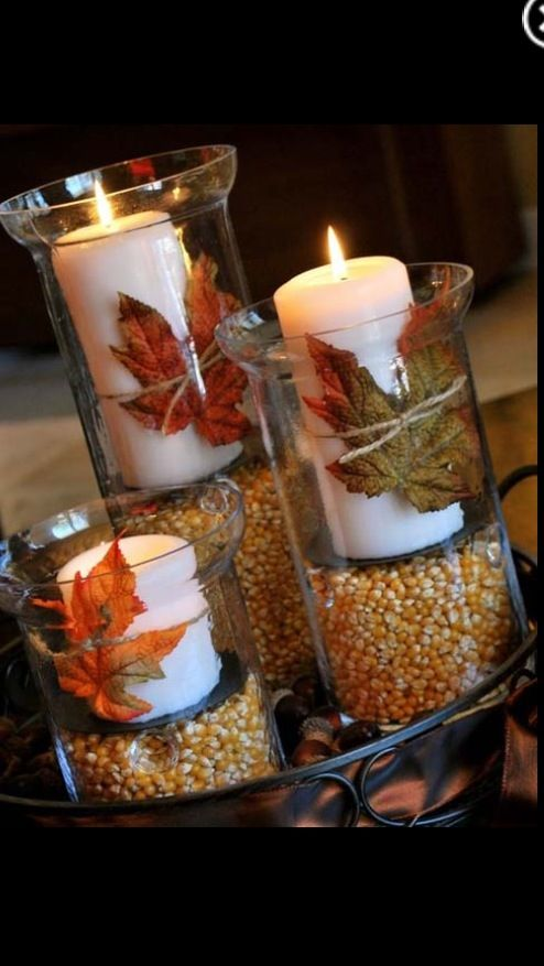 Hydrangea Popcorn Centerpiece : Images about fall decorating on pinterest burlap