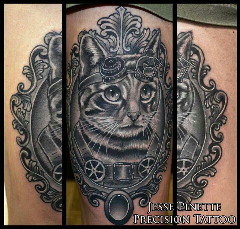 dog frame portrait tattoos