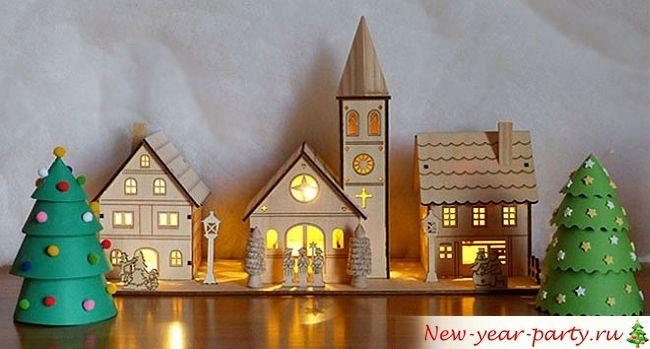 Домики на новый год своими руками