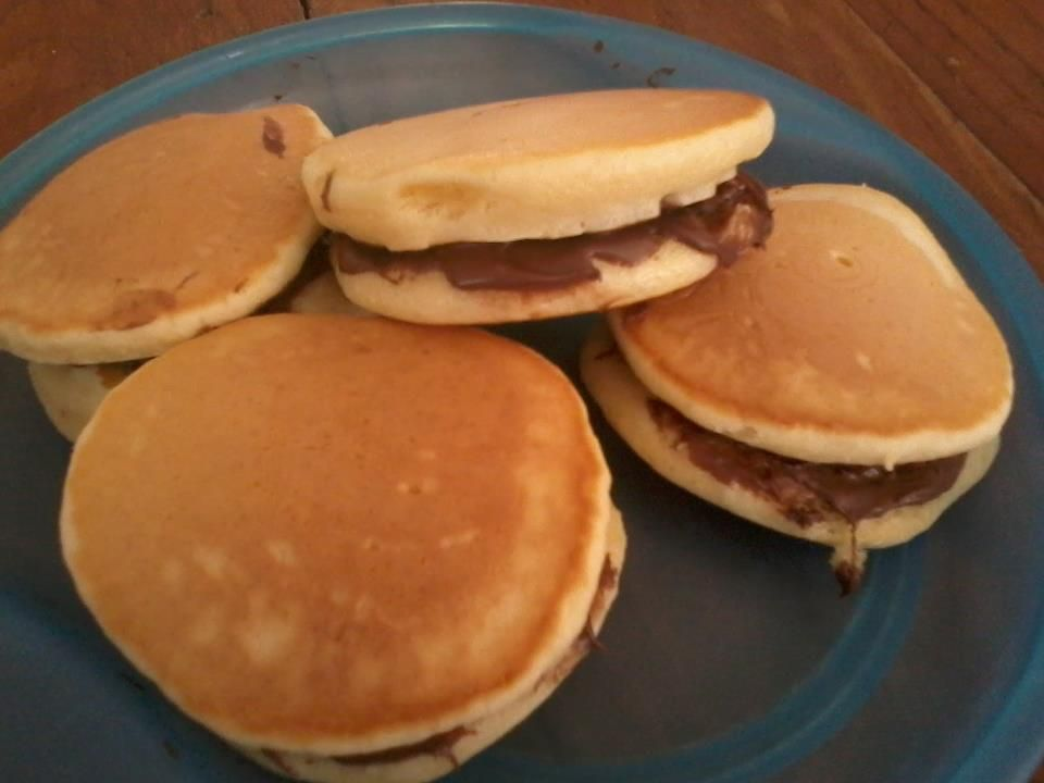 nutella pancakes=best snack EVER | things to eat& make | Pinterest