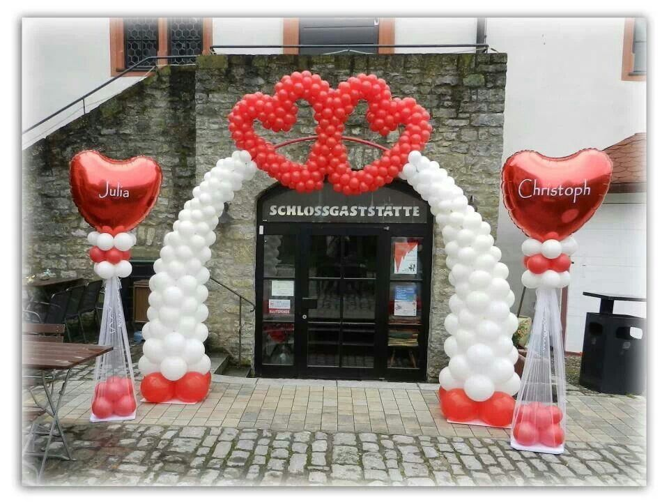 Hearts balloon arches decoration pinterest for Balloon arch decoration