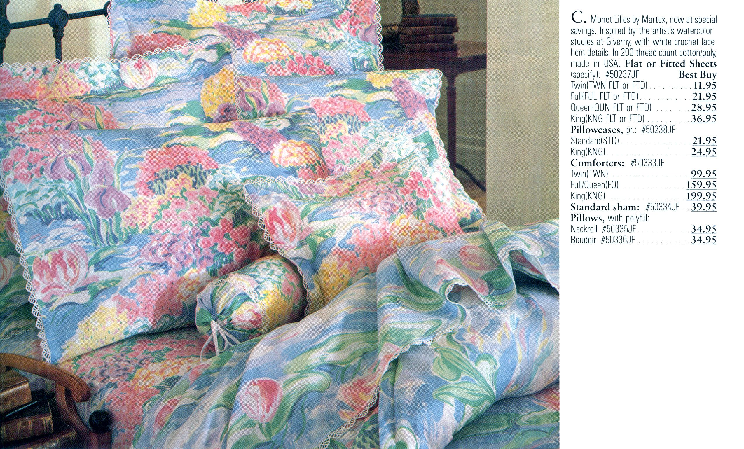Monet Lilies Bedding Bedding Pinterest