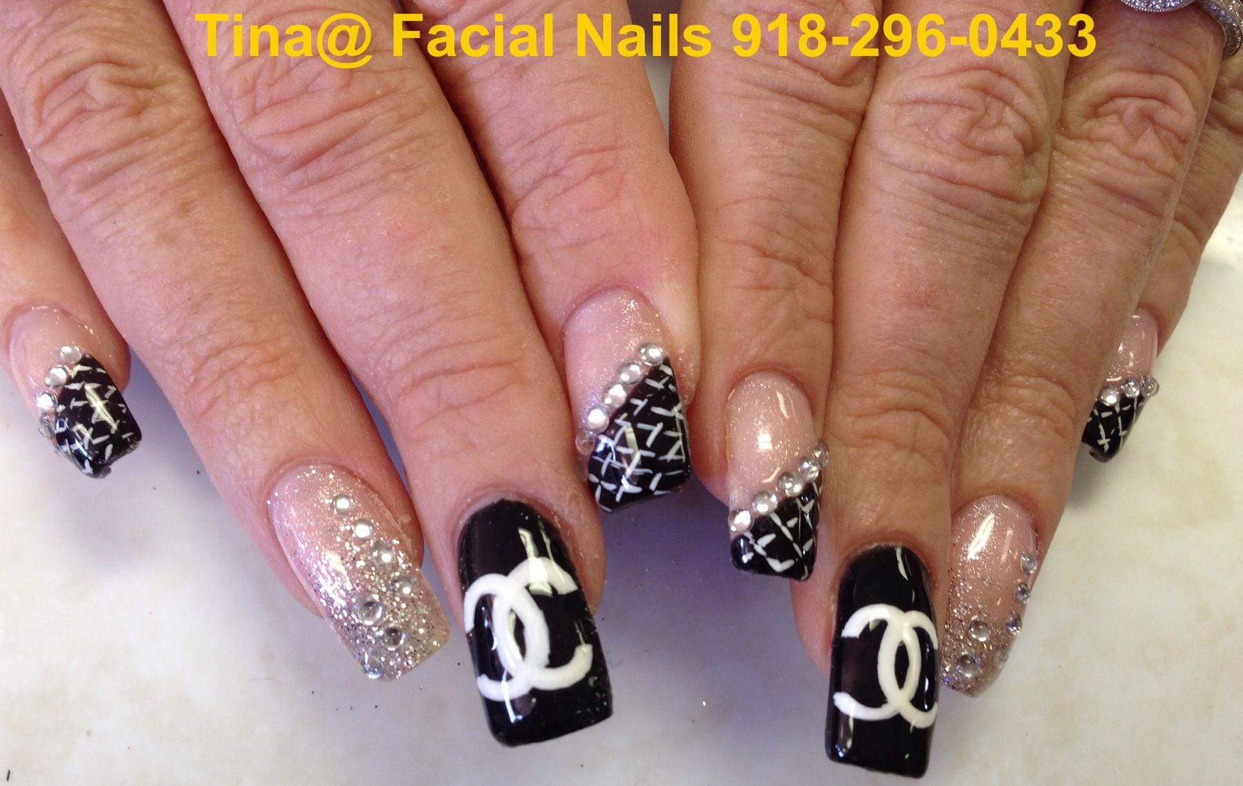 Chanel nail art design pinterest