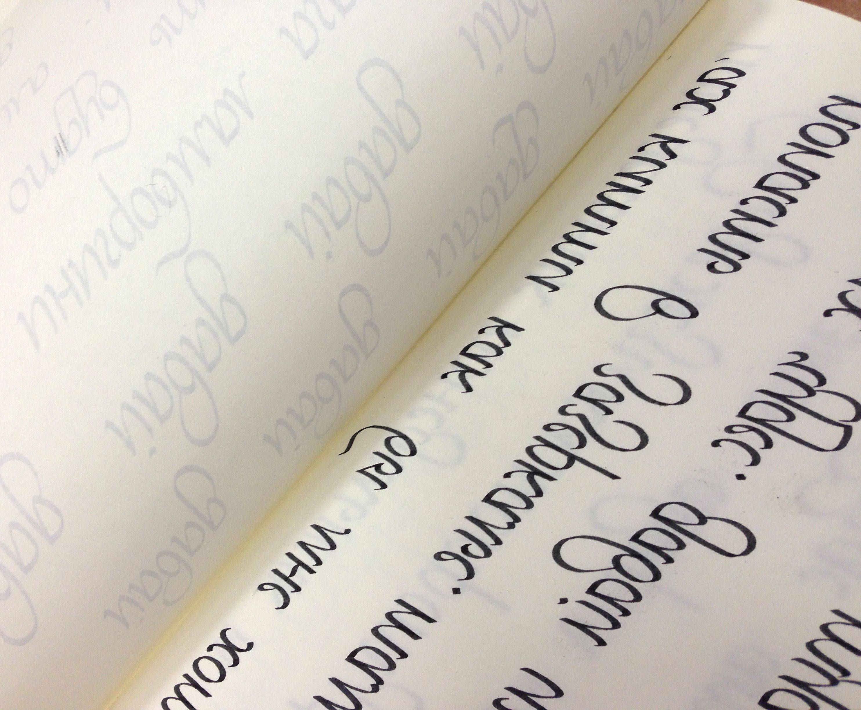 Left Hand Calligraphy Cyrillic Leftys Pinterest