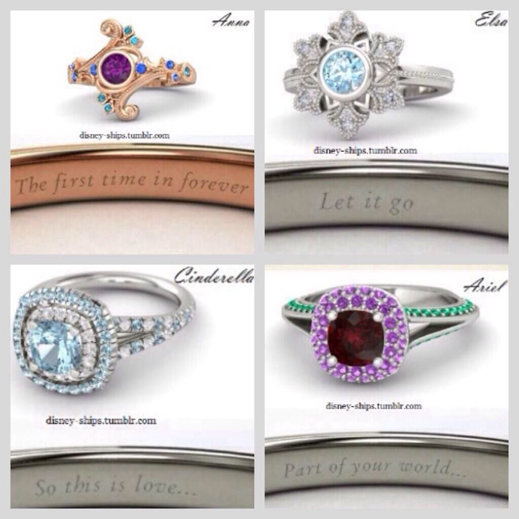 disney princess wedding rings disneyd pinterest With disney princess wedding rings