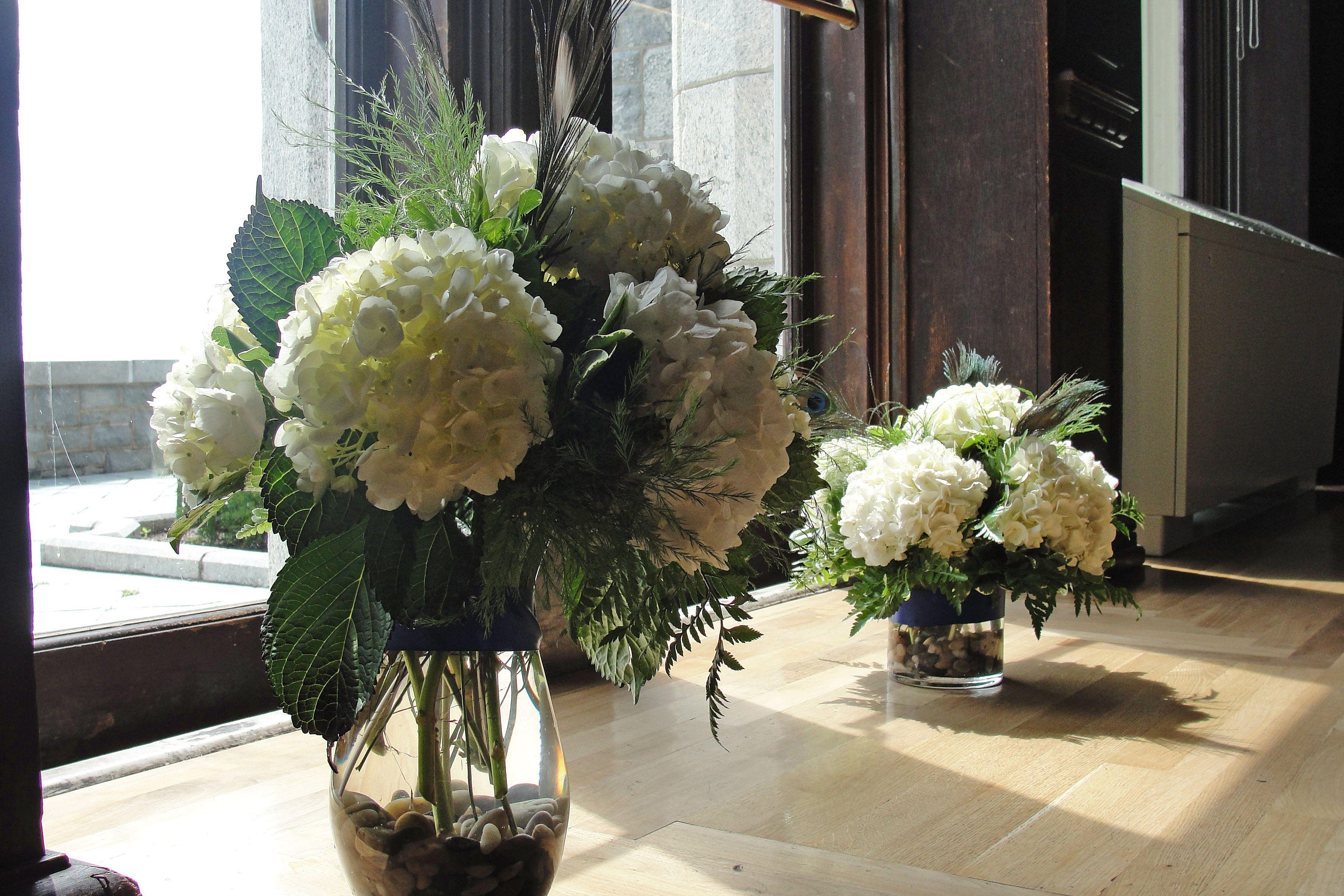 Hydrangea centerpieces vow renewal ideas pinterest