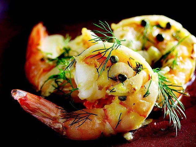 Shrimp with Dill Vinaigrette | SEAFOOD | Pinterest