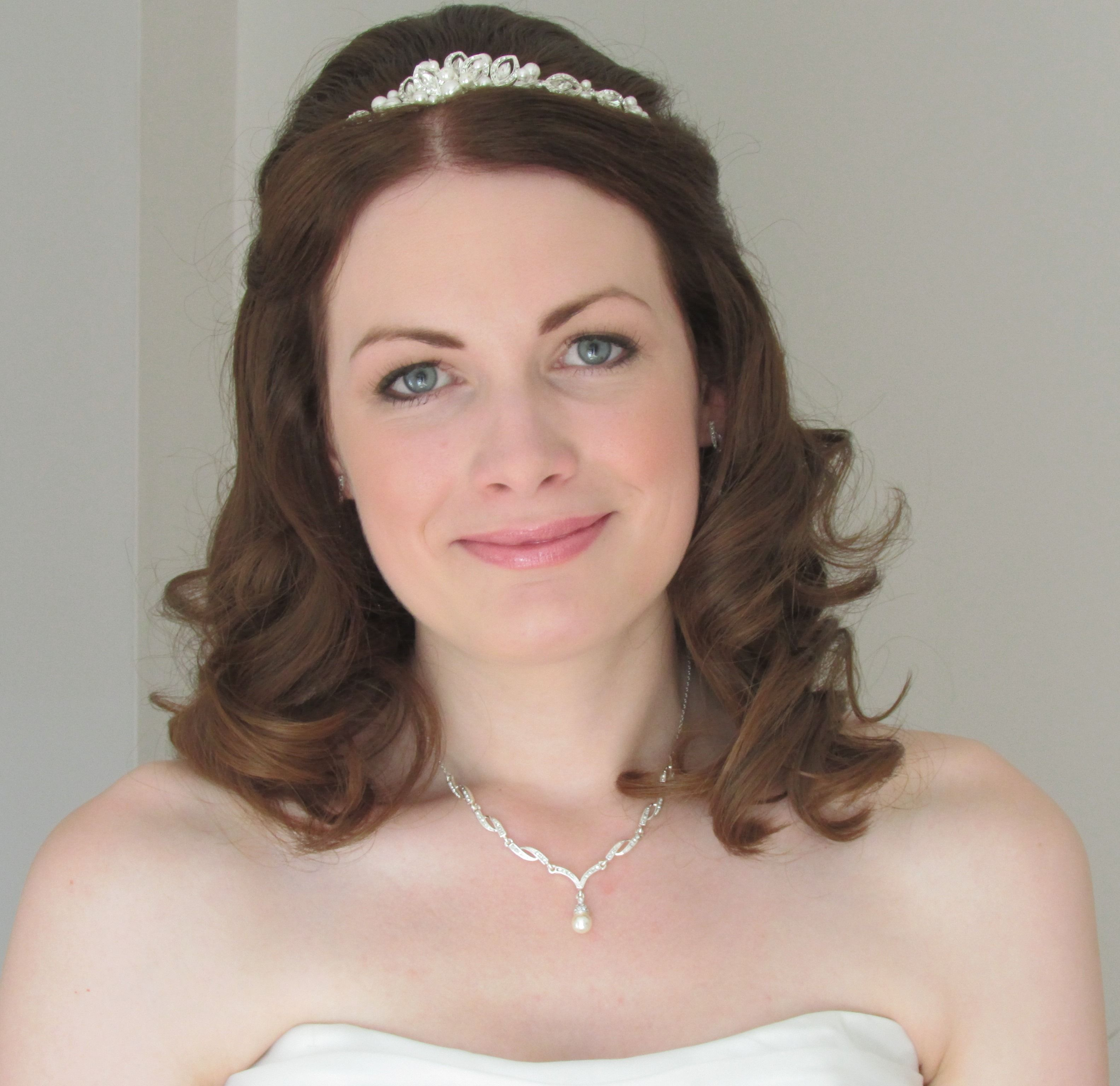 Elegant Wedding Hair And Makeup : Bridal makeup and elegant waves Bridal Hair and Makeup ...