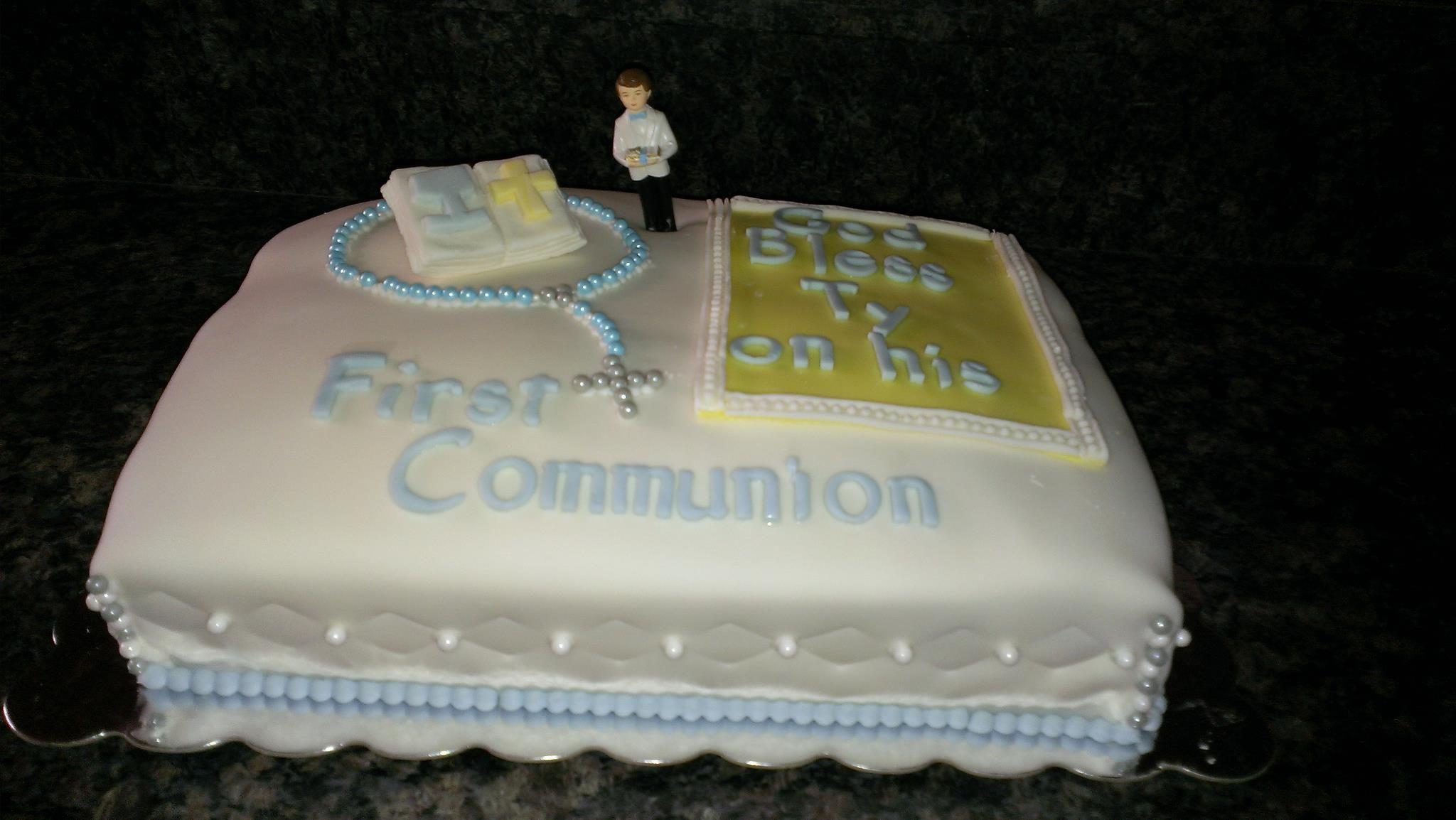 Boy s First Communion Cake Cake Ideas Pinterest