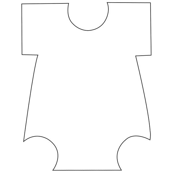 onesie pattern template