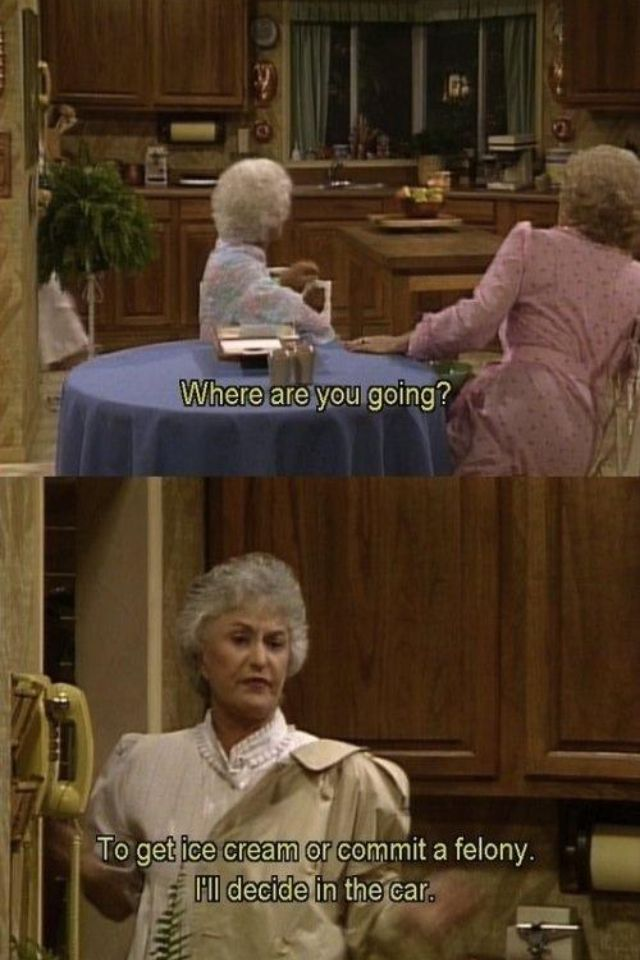 Golden Girls ice cream felony