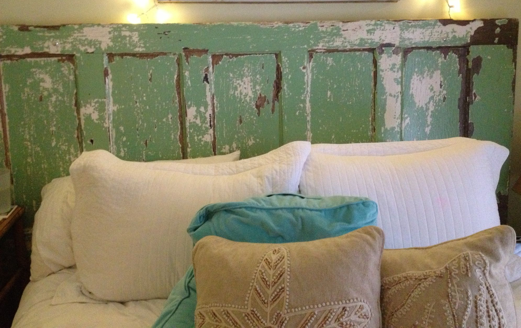 Old Door Turned Into A Headboard Craft Ideas Pinterest