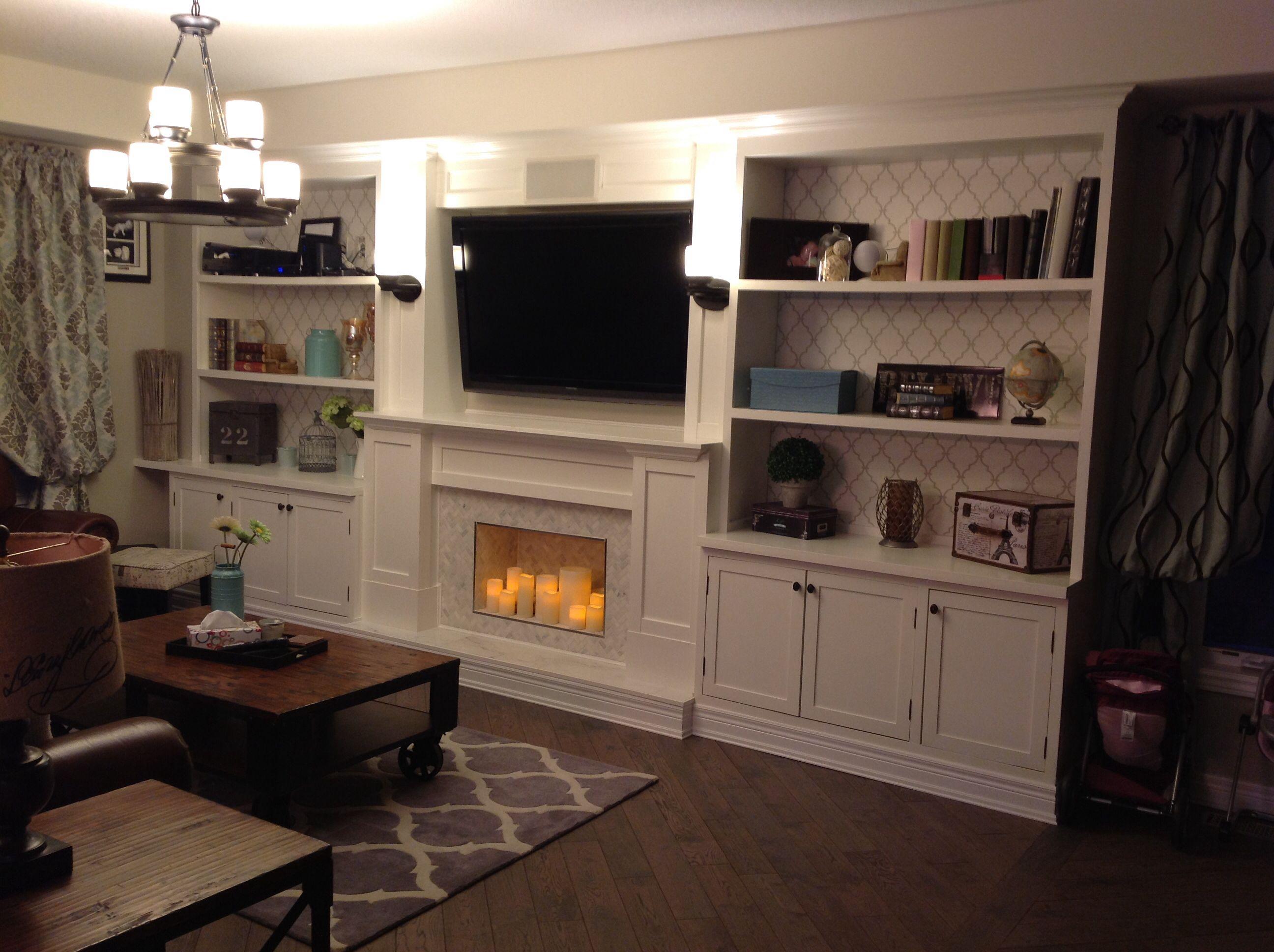 Wall unit, lighting, fireplace Household ideas Pinterest