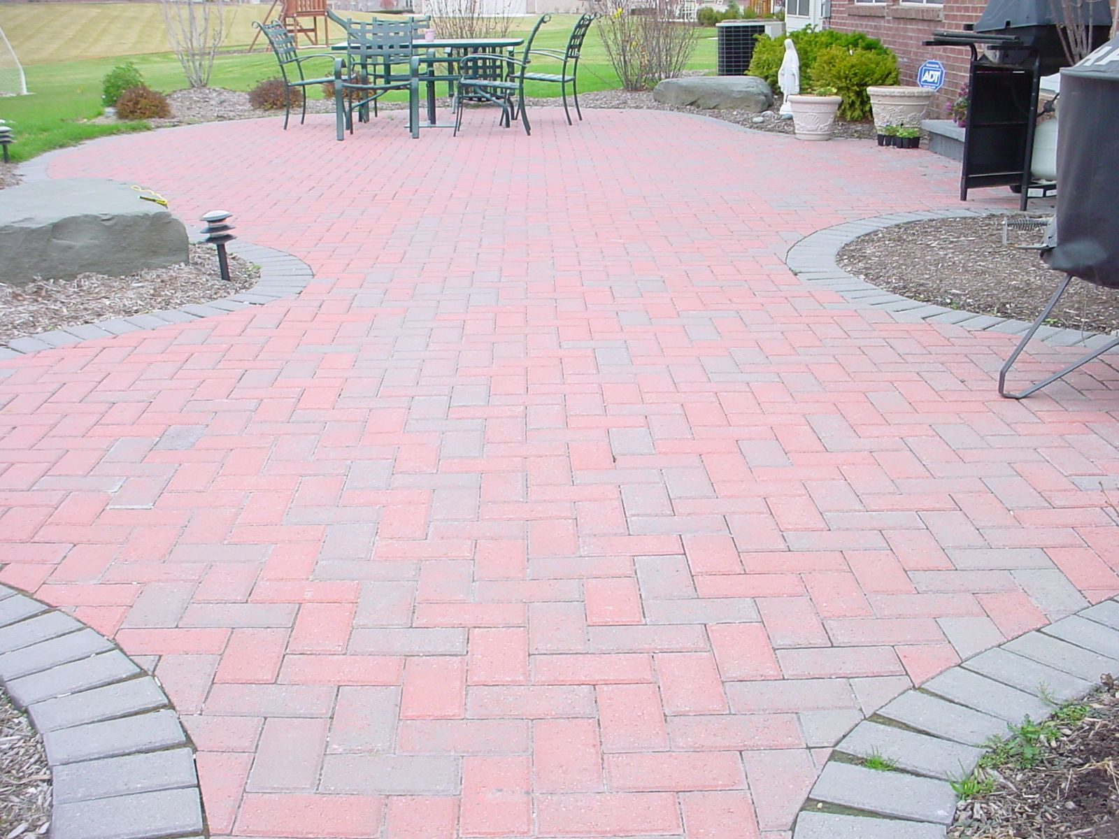 red hollandstone brick paver patio brick pavers pinterest