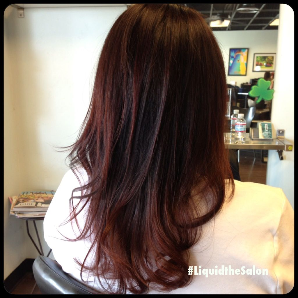 Cherry Chocolate Hair Color | Dark Brown Hairs