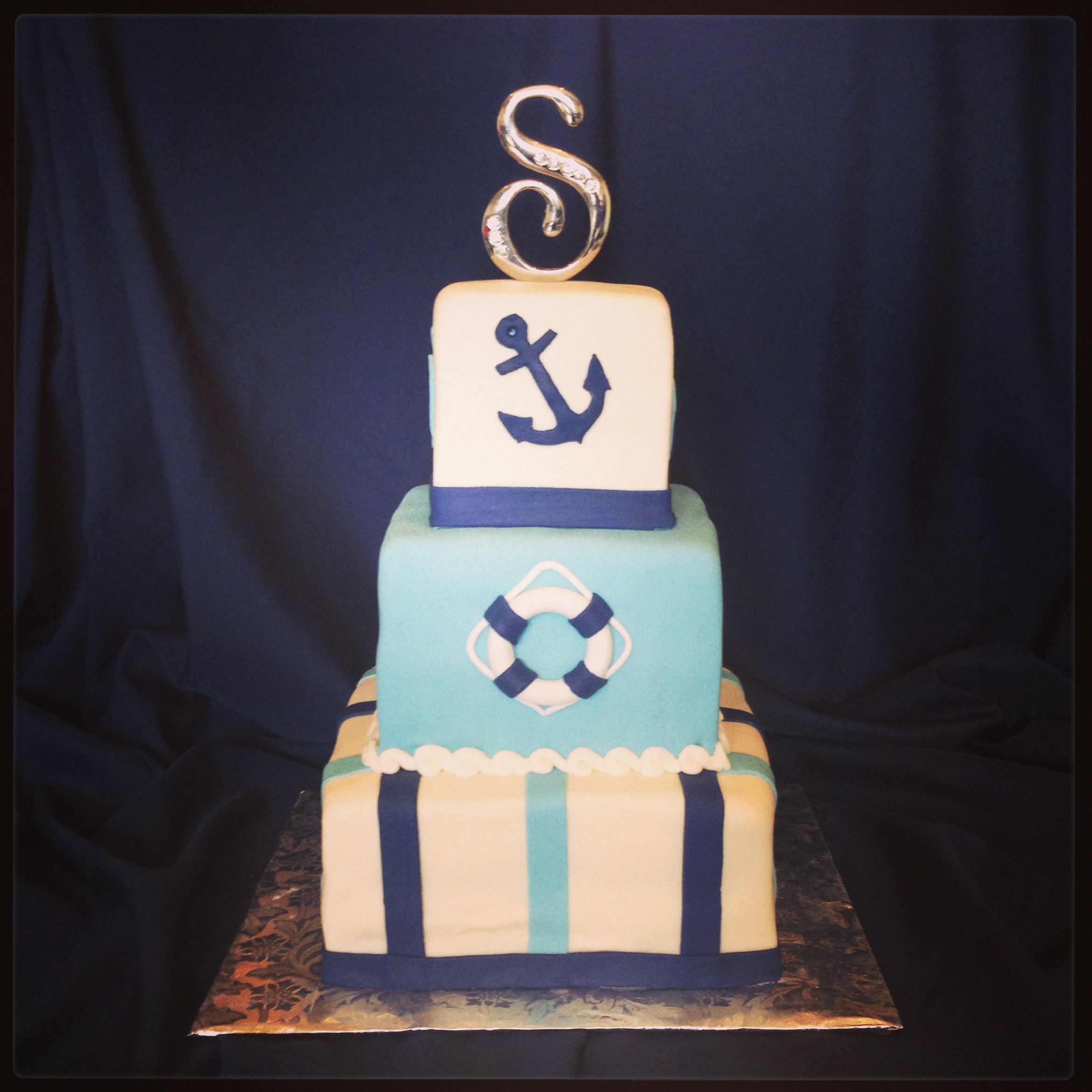 anchor baby shower cake cakes pinterest