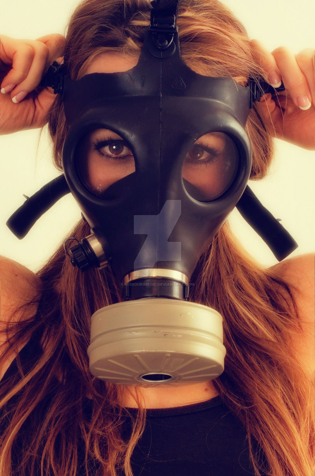 Oxygen mask girl