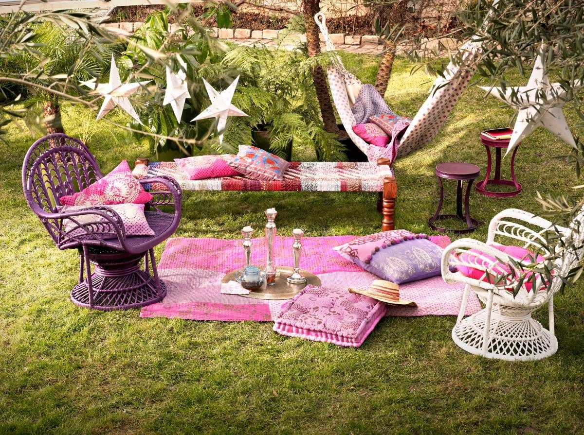 D co jardin antik batik d co ambiance boh me et r cup for Decoration jardin soiree