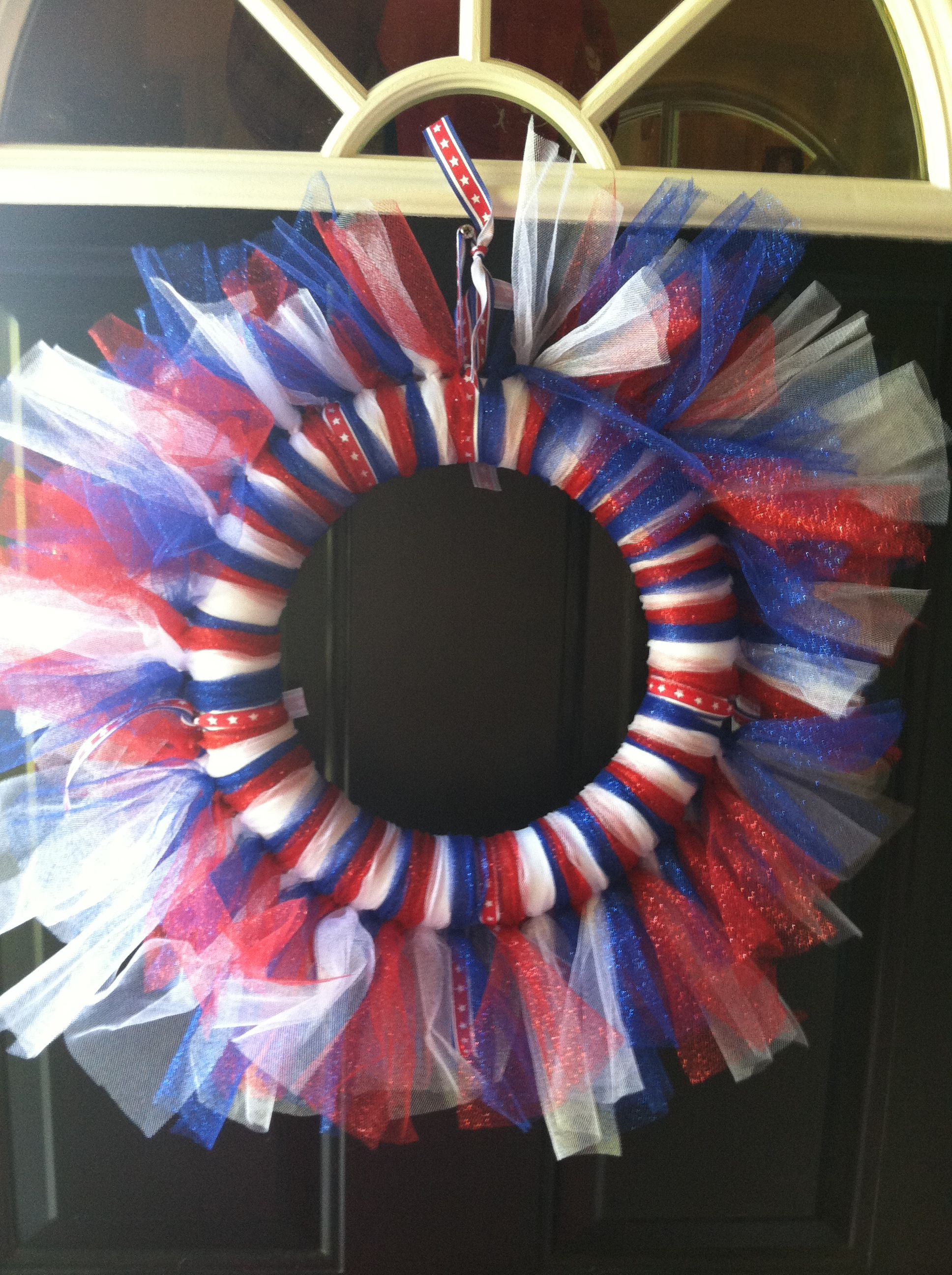 july 4th tulle wreath