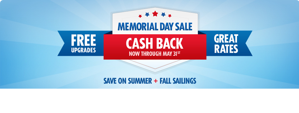 memorial day cruise sale