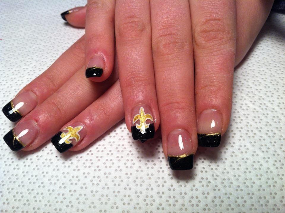 saints nail designs - 28 images - image gallery new orleans saints ...