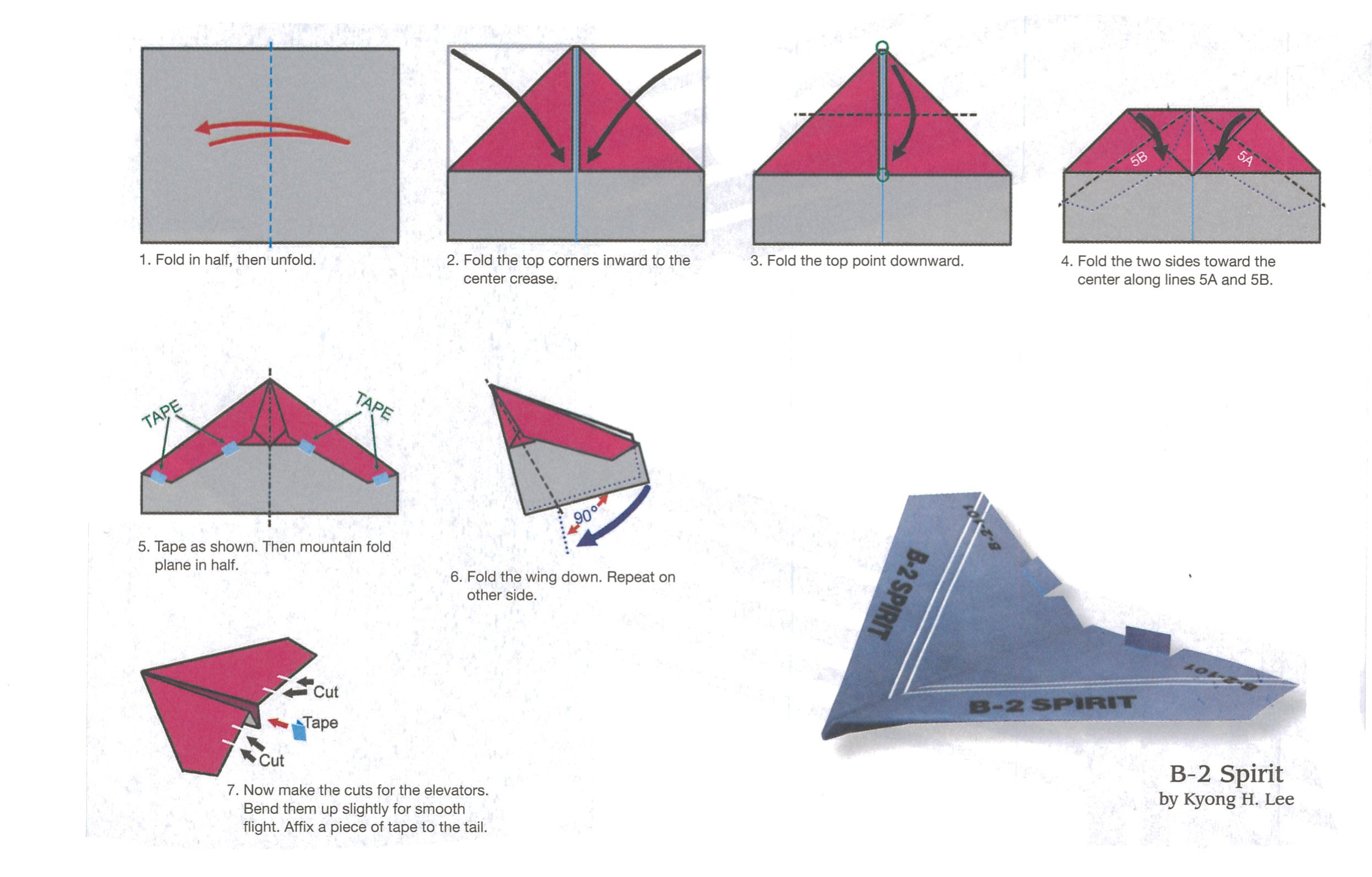 Как сделать из бумаги самолет который летает 100 метров поэтапно фото