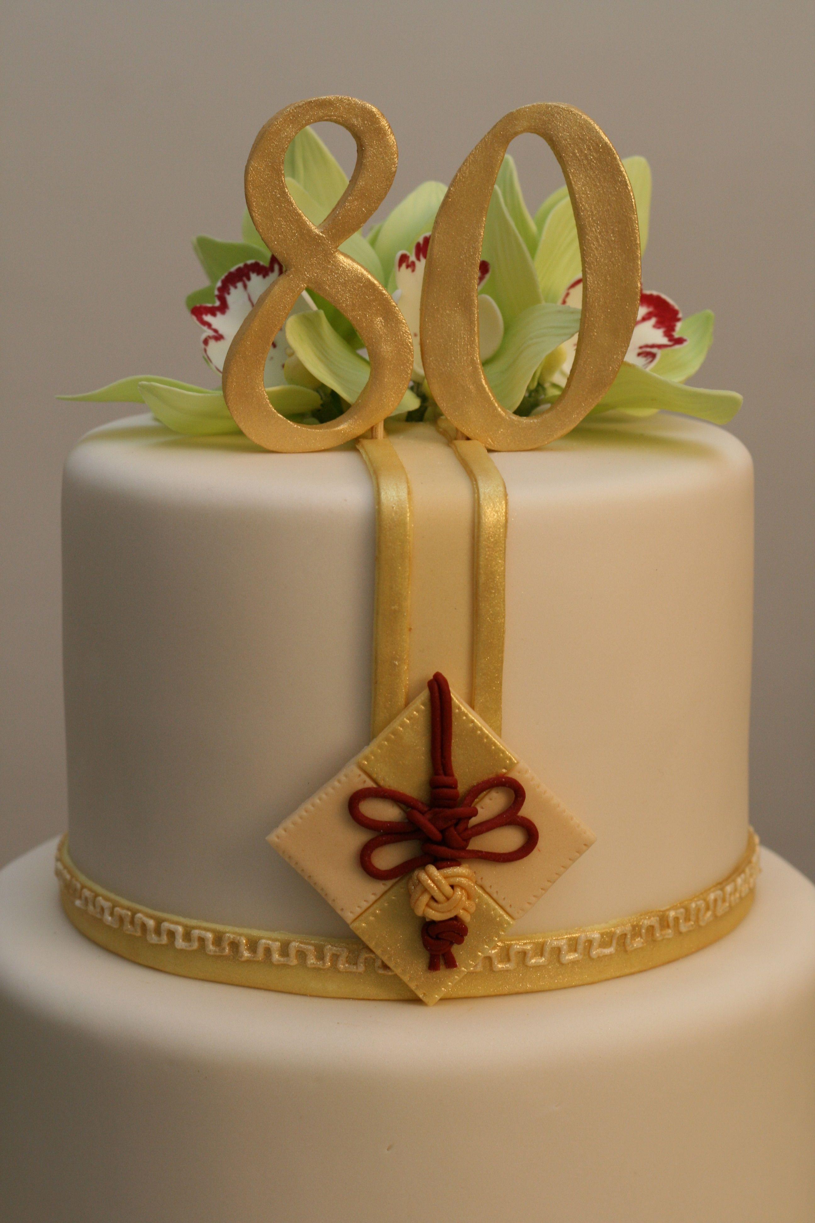 80th birthday cake topper cakes Pinterest