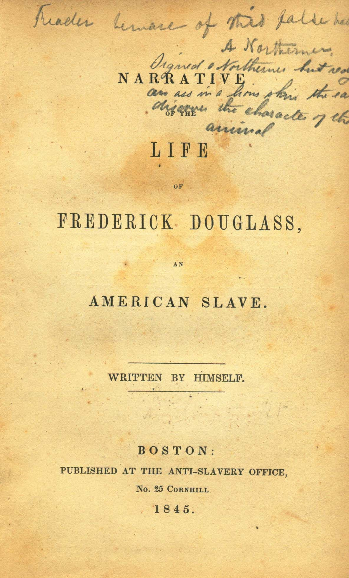good thesis statements for frederick douglass