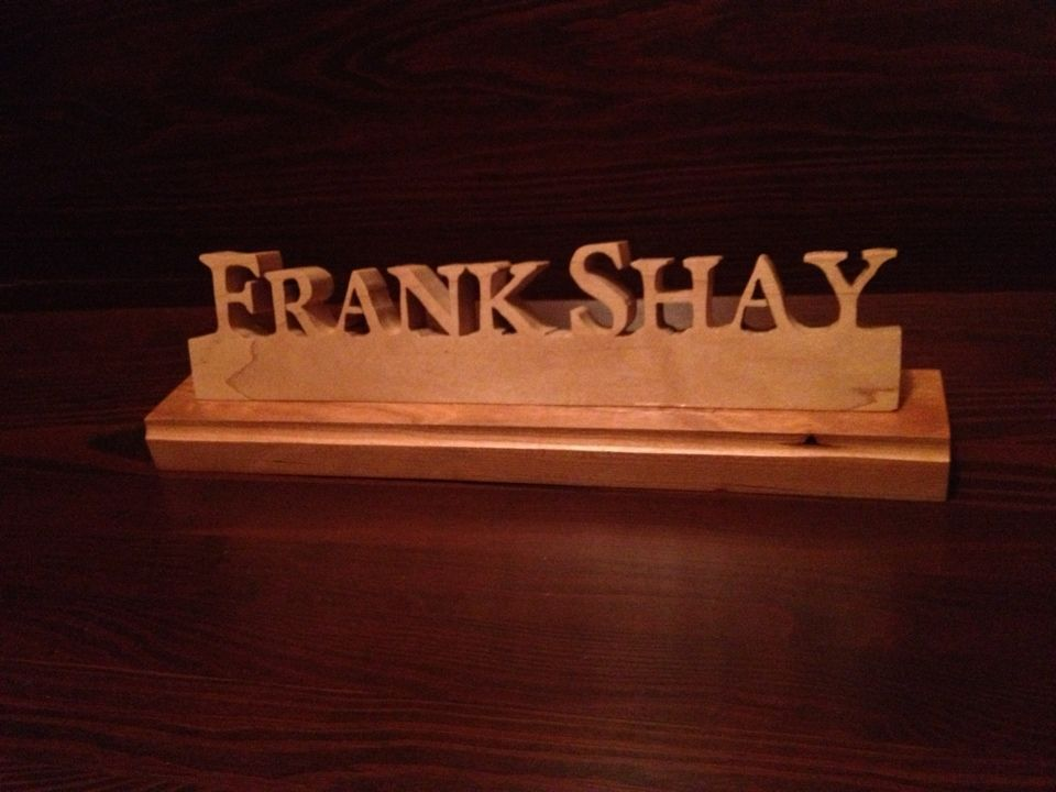 Wood name plate | Wood Working | Pinterest