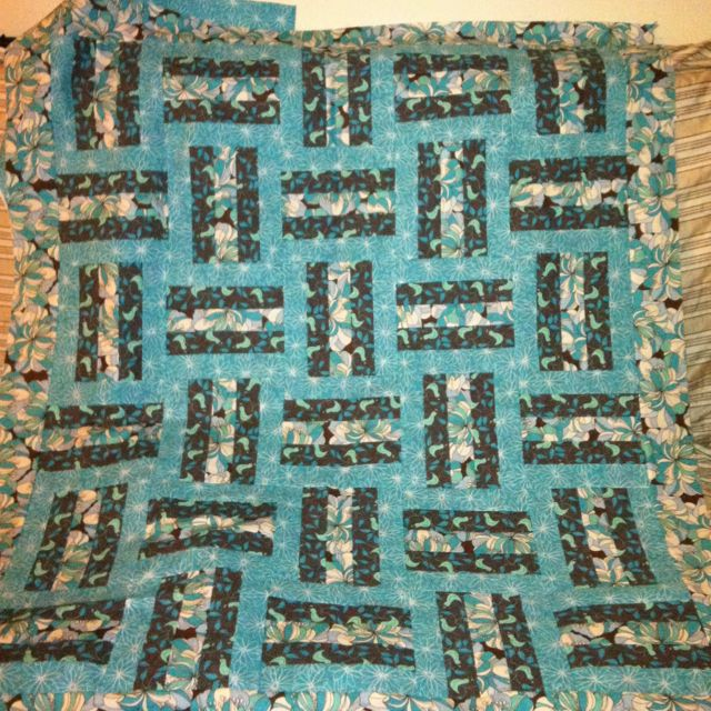 Baby rail fence quilt Quilts Pinterest
