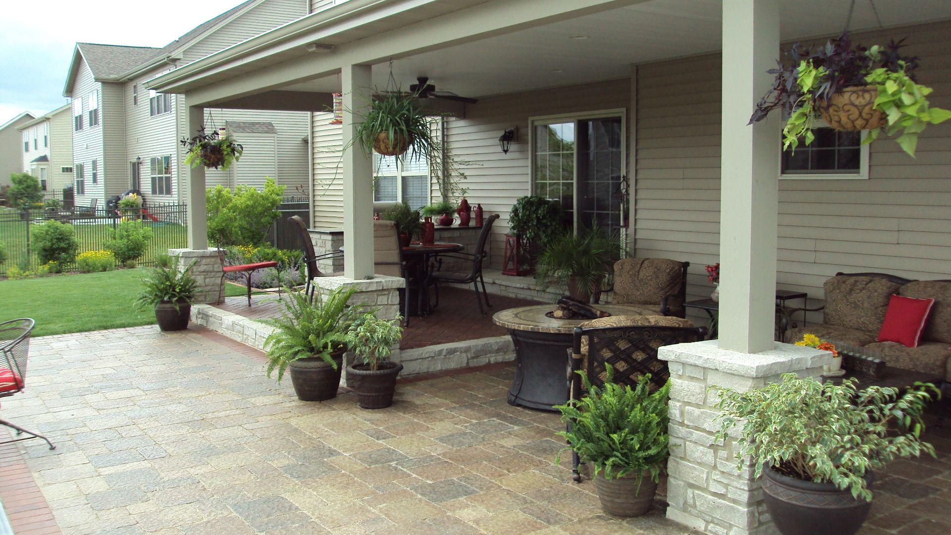 Back porch area stuber land design front back for Back porch design ideas