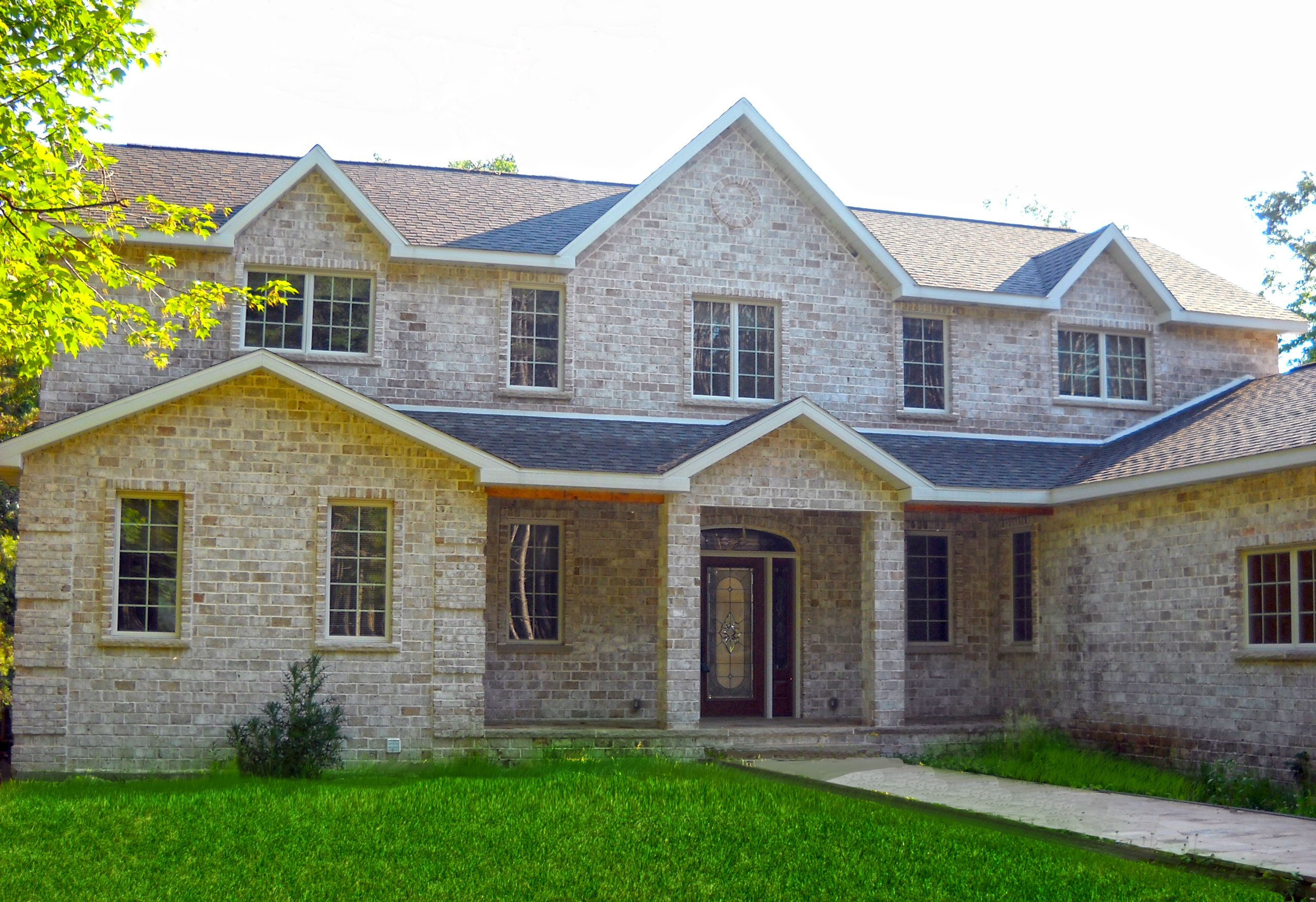 2 story home with brick exterior brick pinterest